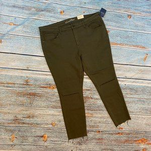 NEW Universal Thread Olive Jegging Jeans 22W